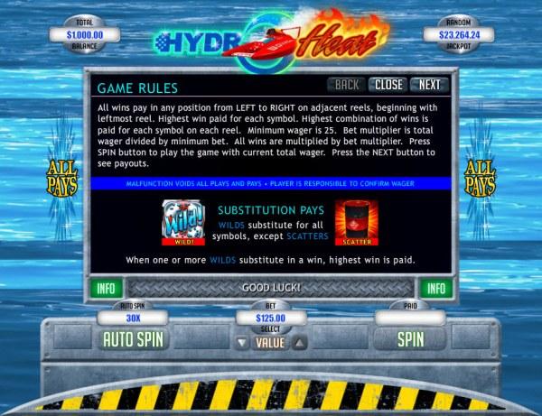 Hydro Heat by Casino Codes