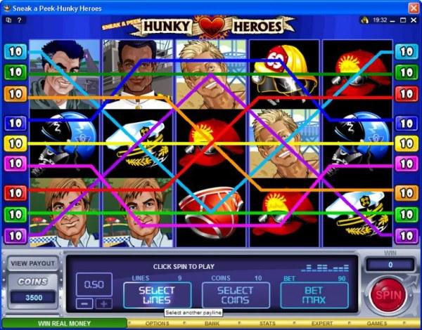 Casino Codes image of Sneak a Peek-Hunky Heroes