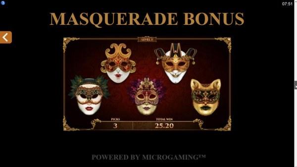 Masquerade Bonus - Casino Codes