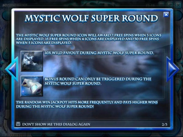 Casino Codes - Mystic Wolf Super Round game rules