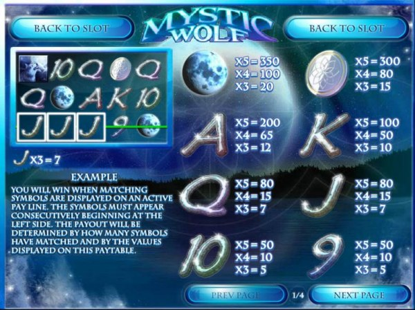 Mystic Wolf screenshot