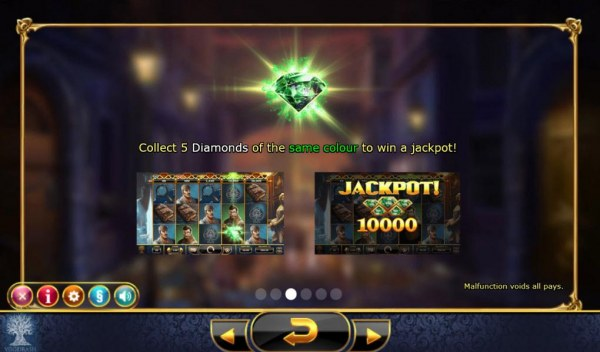 Collect 5 diamonds of the same color to win a jackpot! by Casino Codes
