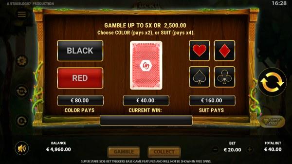Gamble feature - Casino Codes