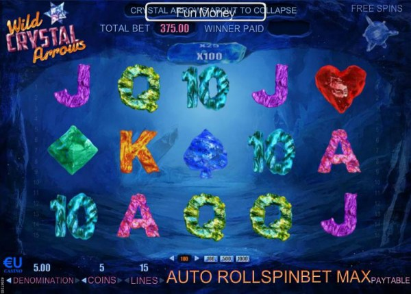 Casino Codes - Main game board featuring five reels and 17 paylines with a $37,500 max payout