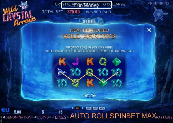 Casino Codes - Arrows can collide with each other. Collisions multiply your win according to number of arrows that collide.