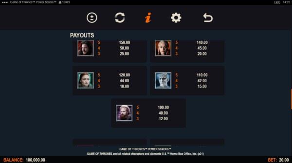 Game of Thrones Power Stacks screenshot