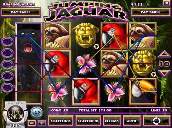 Casino Codes image of Jumping Jaguar