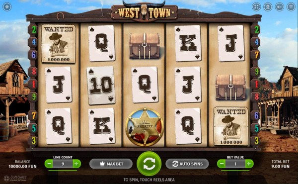 Casino Codes - Main game board featuring five reels and 9 paylines with a $5,000 max payout.