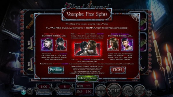 Vampire Free Spins Rules by Casino Codes