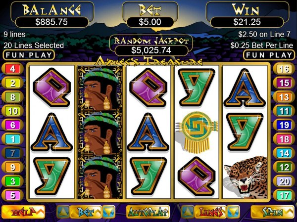 Aztec's Treasure by Casino Codes