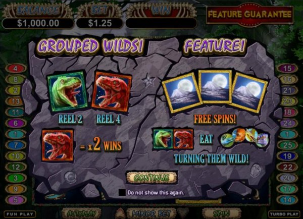 grouped wilds and bonus feature by Casino Codes