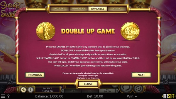 Double Up Game by Casino Codes