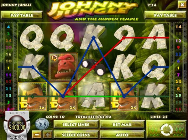 Multiple winning paylines triggers a big win! - Casino Codes