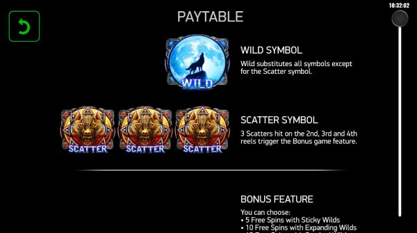 Casino Codes image of Magical Wolf