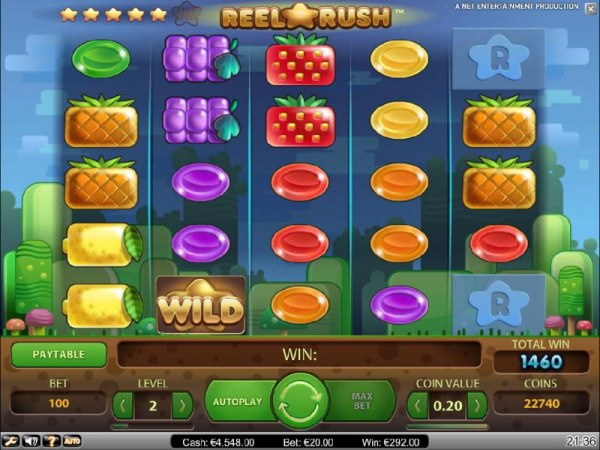 finally, after several re-spins we end up with a 1460 coin big win by Casino Codes
