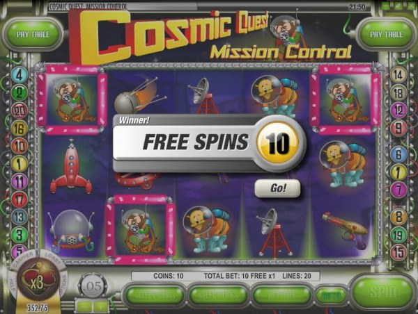 Casino Codes - three scatter monkey symbols triggers 10 free spins