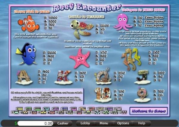 Casino Codes image of Reef Encounter