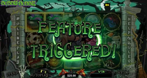 Casino Codes - Pick-A-Cauldron feature triggered