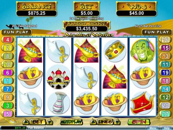 Aladdin's Wishes by Casino Codes