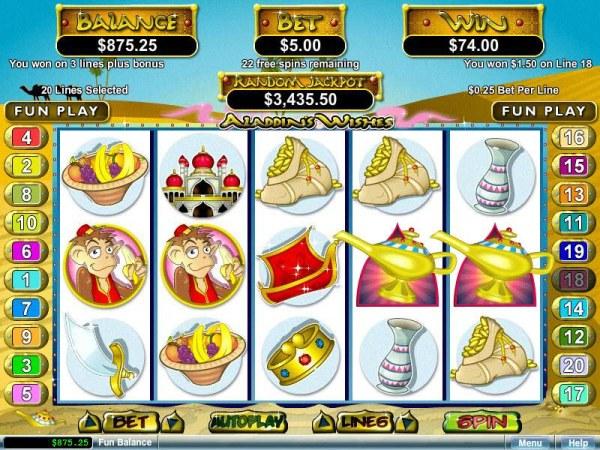 Casino Codes image of Aladdin's Wishes