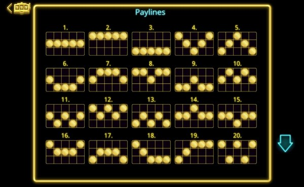 Payline Diagrams 1-20 - Casino Codes