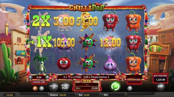 Casino Codes - Multiple winning clusters