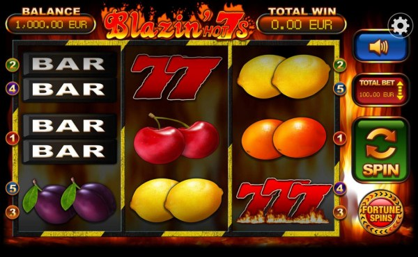 Main game board featuring three reels and 5 paylines with a $10,000 max payout. by Casino Codes