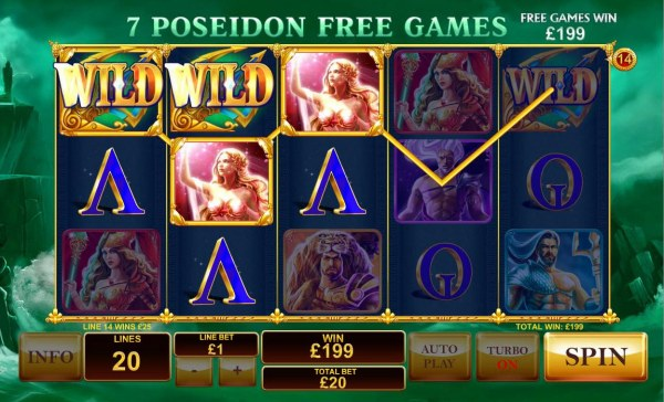 Casino Codes - Multiple winning paylines triggers a 199.00 big win!