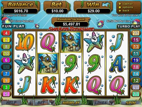 Sunken Treasure by Casino Codes