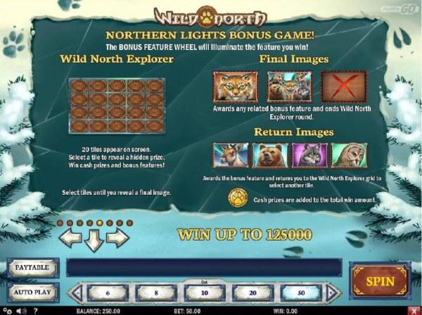 Casino Codes - Northern Lights Bonus game Rules - Wild North Explorer