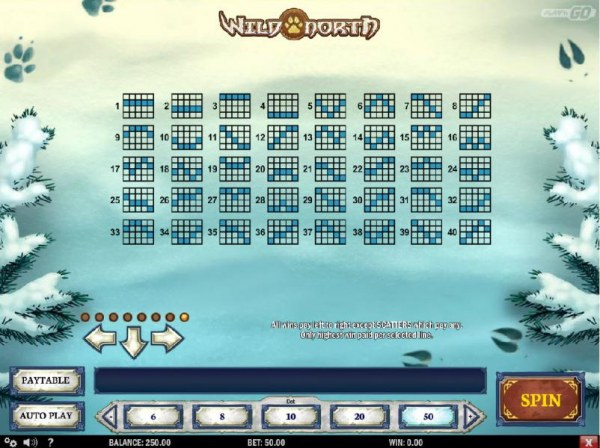 Payline Diagrams 1-40 by Casino Codes