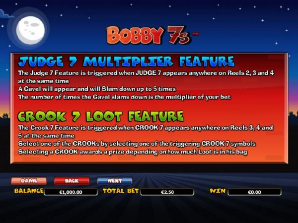 Casino Codes - judge 7 multiplier feature and crook 7 loot feature game rules