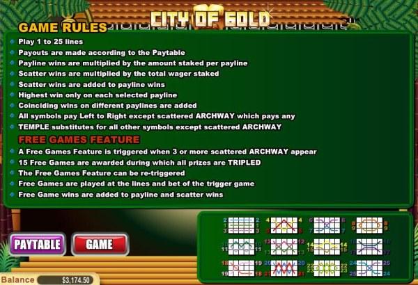 Coty of Gold screenshot