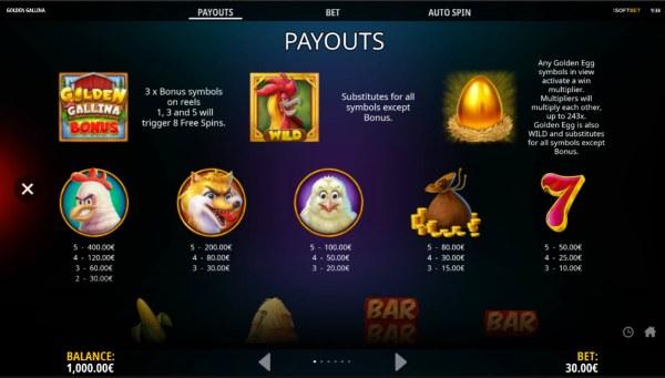 Casino Codes image of Golden Gallina