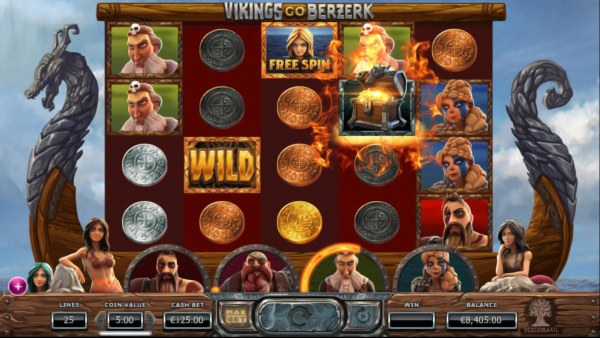 Casino Codes - Treasure Chest lands on 4th reel, giving the player a choice to select 1 of 5 prizes.