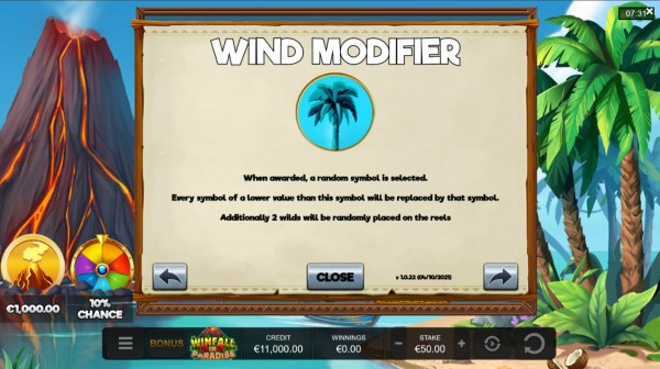 Casino Codes image of Winfall in Paradise