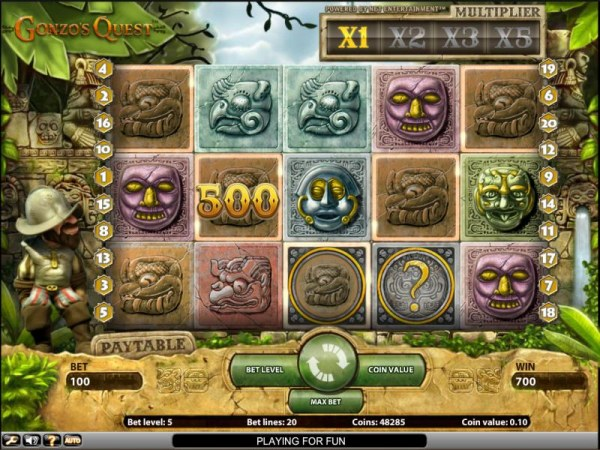 Casino Codes - Gonzo's Quest slot game 700 coin jackpot