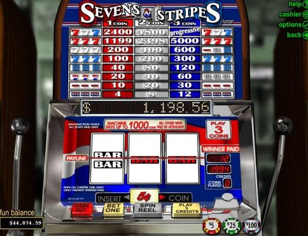 Sevens & Stripes by Casino Codes