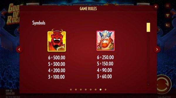 Paytable - High Value Symbols - Casino Codes