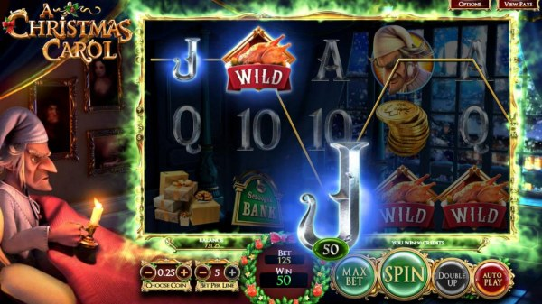 Casino Codes - The Present Wilds feature triggers one payline win.