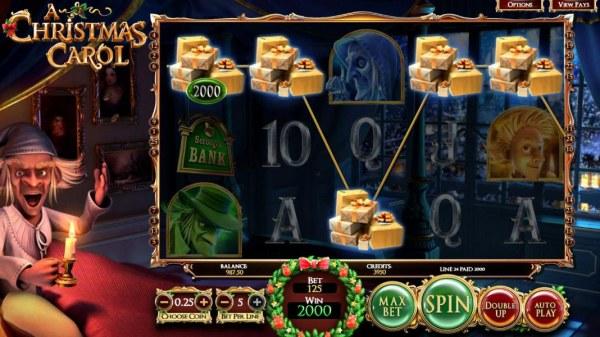 Casino Codes - A five of a kind triggers a 2000 coin big win!