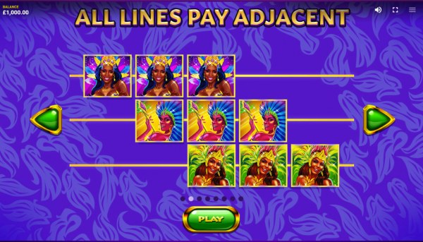 Casino Codes - All Lines Pay Adjacent