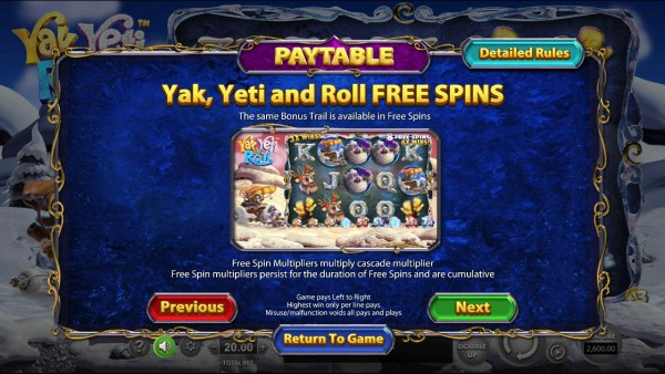 Yak Yeti and Roll by Casino Codes