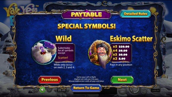 Wild and Scatter Symbol Rules - Casino Codes