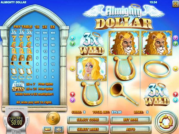 Almighty Dollar by Casino Codes