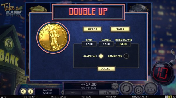 Casino Codes image of Take the Bank