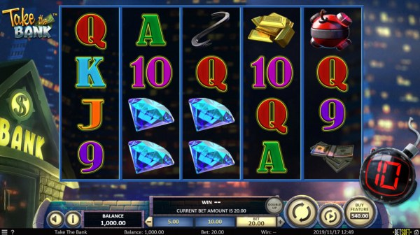 Take the Bank by Casino Codes