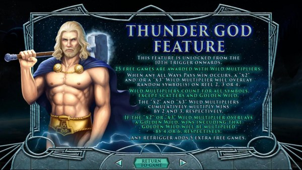 Thunder God Feature Rules by Casino Codes