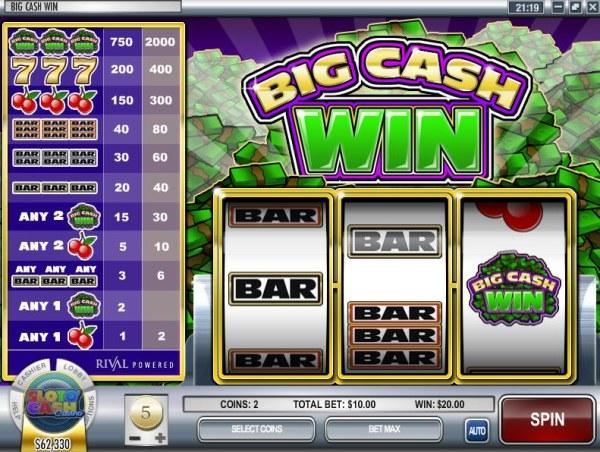 Casino Codes image of Big Cash Win