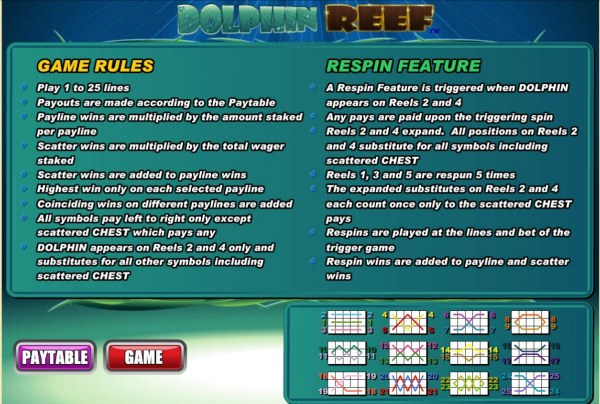 Casino Codes image of Dolphin Reef